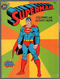 The superman character was created in 1932 (as batman), but appeared in comics 6 years later. Amazon Com Superman Coloring And Activity Book 1987 50th Anniversary Vf Entertainment Collectibles