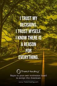 Thetahealing Download I Trust My Decisions I Trust Myself