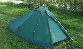 image of a diy ski poled tent