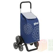 Купить <b>сумку</b>-<b>тележку Gimi TRIS</b> Floral Blue синяя 56л с 6 колесами