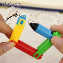 interesting office supplies. 4pcs creative interesting mini foldable ballpoint pen bending tortuous students stationery office supplies( supplies g
