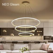 neo gleam minimalism modern chandelier light for dining room bar kitchen res para sala de jantar hanging led chandelier lamp