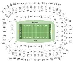 Colts Interactive Seating Chart Indianapolis Colts Vs Oakland Raiders Tickets Sun Sep 29