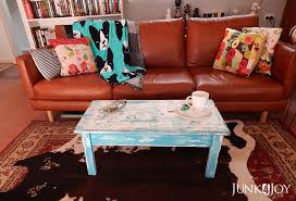 Shop wayfair for the best turquoise distressed furniture. Very Distressed Turquoise Coffee Table Junk4joy