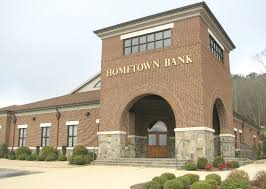 hometown bank s 9500 square foot building features a brick and stone entrance