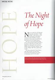 Night of Hope Gala Featured in Seasons Magazine | Sims Patrick Studio