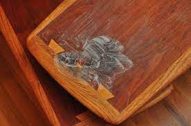 removing stains from teak and walnut