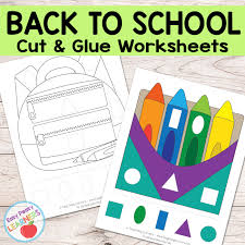 You can use it to make busy bags or plan indoor activities. Free Back To School Cut And Glue Worksheets Easy Peasy Learners