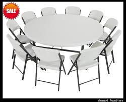 elegant 6 foot round table folding table chair set sy 183zy