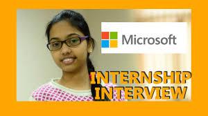Microsoft Summer Internship Interview Youtube