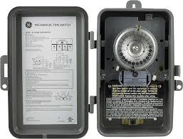 ge 15163 120volt 40 amp 24 hour outdoor metal box mechanical mechanical outdoor box timer 24 hour ge15350 ge 15600