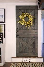barn style front doorRemodelaholic  Cheap  Easy DIY Barn Door