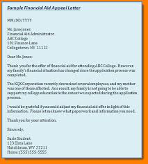 sap appeal letter example financial aid appeal letter sample 9fccuulg