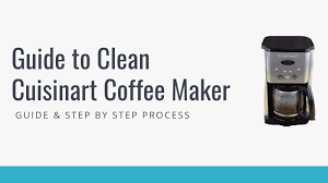 To clean, fill the water reservoir to capacity with a mixture of 1/3 white vinegar and 2/3 water.press the clean button.when the self clean light glows, turn the coffeemaker on by pressing the on/off button.the clean light will shine steadily. How To Clean Cuisinart Coffee Maker 8 Simple Methods