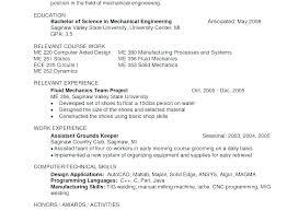 Free Download Mechanical Engineering Cv Format Sample Resume