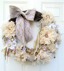 Shabby Chic Wall Decor Shabby Wreath Cottage Wreath Christmas Wreath Floral Wreath Shabby