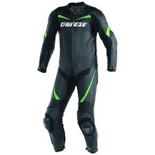 21 dainese t racing p leather suit black green