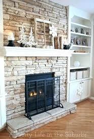 stone for fireplace surround diy stacked stone fireplace surround