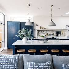 Interior Dark Blue Kitchen Cabinets Navy Ideas Ideal Home | akomunn.com