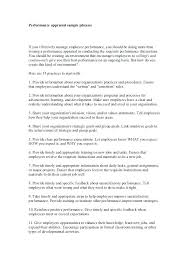 Review Examples For Employees Self Performance Review Examples Of Written Appraisals Writing