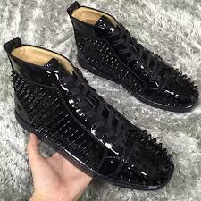 black patent leather sneakers shoes high top famous red bottom sneaker shoes luxurious designer men women causal party dress wedding silver shoes casual