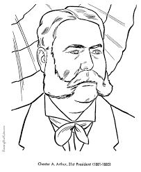 Small Picture Free printable President Chester A Arthur coloring pages