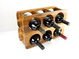 acacia  bottle stackable wine rack