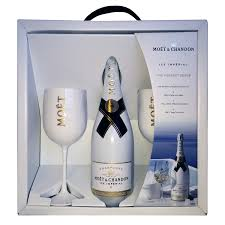 moet chandon ice imperial nv 75cl and 2 gles pack
