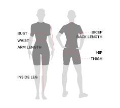 Women S Measurement Chart Body Womens Size Chart Donkey Label