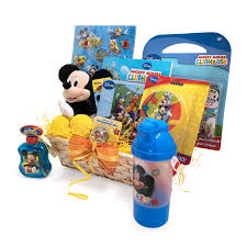 easter gift basket idea for kids xoxo mickey themed colorful basket 12x6x4 walmart
