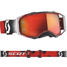 Scott Prospect Goggle W Chrome Lens Color White_red_20