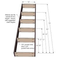standard bookshelf height. Phenomenal Standard Bookshelf Height Ana White Inset Doorway  Project Between Shelf Metric And Depth Library Intended