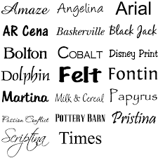Font Names 600px