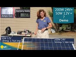 Mismatched <b>Solar Panels</b> - What happens? <b>200W 24V</b> with a 50W 12V
