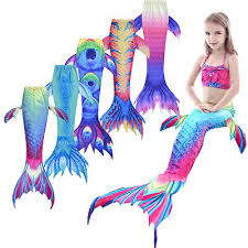 New Kids Girls <b>Women</b> Sparkle <b>Mermaid</b> Tail <b>Monofin</b> Swimmable ...