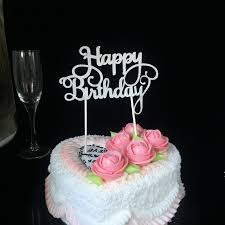 37 Off Cake Topper Simple Birthday Design Decorative Party Rosegal