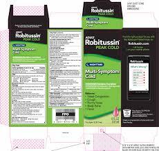 Robitussin Peak Cold Nighttime Multi Symptom Cold Liquid
