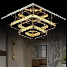 Creative Designs In Lighting Amazon Com Wg Led Crystal Ceiling Lamp Modern Creative