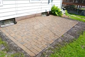 simple patio designs with pavers. Lowes Patio Pavers With White Siding And Green Grass For Outdoor Decoration Ideas Simple Designs