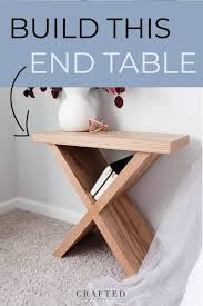 diy side table with x base