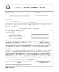 Construction Change Order Form