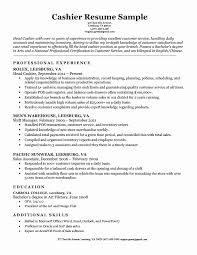 Career Objective Examples Cashier Top 22 Cashier Resume