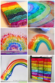 rainbow art projects for kids to make plus more spring art projects for kids