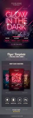 glow flyer glow in the dark flyer by stylewish graphicriver