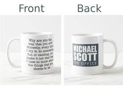 Quote Mugs Best The Office Tv Show Mug Michael Scott Quote Mug Quote Mug Etsy