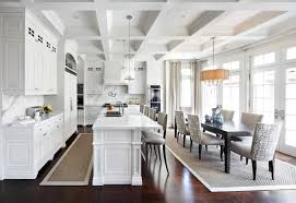 Ballard Designs Rugs Kitchen Traditional With Barstools Bright Coffered  Ceilings Dining Chairs Dining Table French