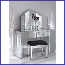 Small Glass Corner Makeup Vanity Table With Two Drawers Plus