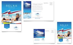 Cruise Gift Certificate Template Cruise Travel Postcard Template Design