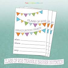Class Party Invitation Free Printable Class Of 2015 Graduation Party Invitation