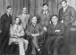 the third round table conference in 1932 sitting on his right choudhary rahmat ali
